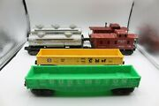 2 Of Each Caboose, Gondola And Tanker Lionel And K-line O Scale