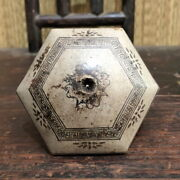 Exquisite Big Antique Chinese Pottery Opim Bowl Damper Marked With Collar