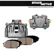 Front Oe Brake Calipers Pair And Ceramic Pads For Cadillac Cts Sts