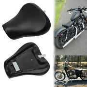 Black Front Driver Rider Solo Seat For Harley Sportster 883 1200 72 48 1983-2003