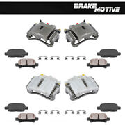 Front And Rear Brake Calipers And Pads For Yukon Tahescalade Silverado Avalanche