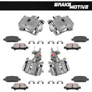 Front + Rear Brake Calipers + Ceramic Pads For 2003 2004 2005 2006 2007 Accord