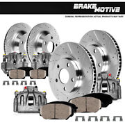 Front And Rear Brake Calipers Rotors Pads For Acura Rsx Honda Civic Hatchback Si