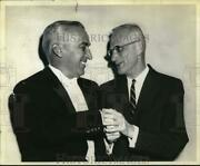 1961 Press Photo Arthur Poister And Howard Mitchell Meet At Lincoln Auditorium