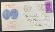 1939 Royal Train Rpo Usa First Day Cover King George Vi Royal Visit To Rochester