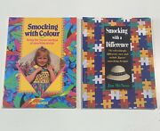 Smocking Sewing Books Patterns Plates Lot Of Two Australian Titles