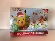 Pokemon Holiday / Advent Calendar 24 Gifts 16 Figures 6 Accessories - New