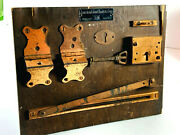 Vintage American Cabinet Hardware Store Advertising Display Copper