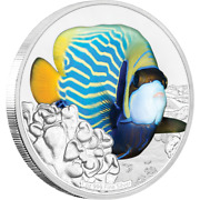 2018 Niue 2 Reef Fish Angelfish 1 Oz Silver Proof Coin - 3000 Made