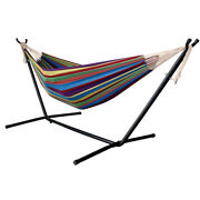 9 Ft Portable Heavy-duty Steel Hammock Stand And Hammock W/carrying Case Summer