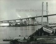 1991 Press Photo Dredging Barge Louisiana At Work In The Water Alabama