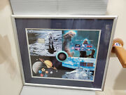 Usa Space World Stamp Expo Uncut Plate Souvenir Sheet Postage Framed Under Glass