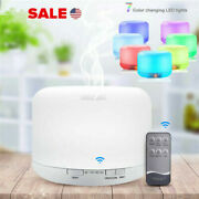 500ml Air Humidifier 7 Led Essential Oil Diffuser Ultrasonic Aroma Mist Purifier