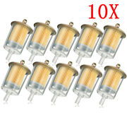 10x 8mm 3/8'' Motorcycle Fuel Filters Cleaner Inline Gas Fuel Filter Line Pipe