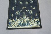 Antique Chinese Silk Embroidery Forbidden Stitch Tapestry Panel