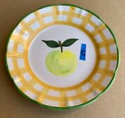 1 Salad Plate Country Fair Williams Sonoma Designers Guide Yellow Green Apple C