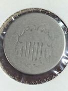 Shield Nickel Worn Date 1st Us Nickel Type Minted Private Collection