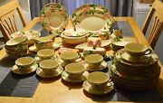 Large Lot Of Franciscanware Desert Rose Pattern Service For 8 Many Extras 55 Pc