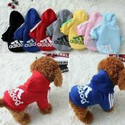 Adidog Pet Dog Clothes For Small Dogswinter Sports Hoodie Jacket Pure Cotton So