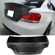 Rear Trunk Lid Cover For Bmw E82 1 Series 128i 135i M 2008-2013 Carbon Fiber