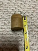 Antique Small Treen Wooden Barrel Container Jar Box Turned Ribbedandnbsp