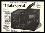 Antique Camera Photography Equipment Ad 1898 Adlake Special Adams And Westlake Co.