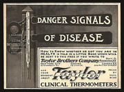 Thermometer Taylor Clinical Great 1902 Print Ad