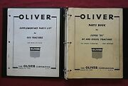 Genuine 1957-1961 Oliver Super 99 950 Hc And Diesel Tractor Parts Catalog Manual
