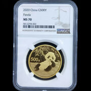 Stock Ngc Ms70 2020 China Panda 30g Gold Coin Dhl Ship