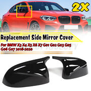 2x Side Mirror Cover Caps Replacemet For Bmw X3 X4 X5 X6 X7 G01 G02 G03 G05 G06