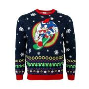 Official Numskull Sonic Snowboard Christmas Xmas Jumper Uk Xs / Us 2xs New