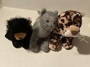 Webkinz Lot Of 3 Spotted Leopard Black Bear Charcoal Cat No Codes Animals Only