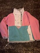 Vintage Usa The Pink Reversible Anorak Pullover Womenandrsquos Small