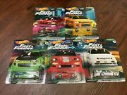 Hot Wheels Fast And Furious Premium Original Fast Complete Set Of 5 Cars