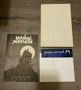 Maniac Mansion Commodore 64 128 C64 Disk, Hint Poster And Manual