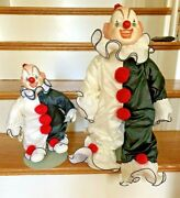 House Of Global Art Porcelain Haunted Clown Dolls Musical Collectible Clowns