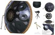 Kelishiting 2021 New Handpan Drum Instrument In D Minor 9 Notes 9 Sound Black