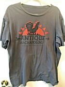 Antique Archaeology American Pickers Grey Cotton T-shirt Tv Show Womenand039s Size Xl