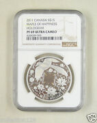 Canada Silver Coin 15 Dollar 2011, Maple Of Happiness, Ngc Pf 69