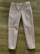 Euc Pre-owned Womens J. Crew Gilded Brocade Pants Size 2