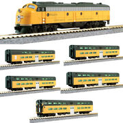 New Kato Candnw Bi-level 400 Emd E8a And 5-car Train-only Set N Scale Free Us Ship