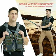 Fishing Outdoor Sport Flying Men Respiratory Jacket Safety Vest Survival Vest