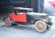 J. Chein Hercules Roadster Coupe Car - Steel Balloon Tires - Usa 1930s