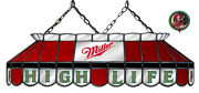 Miller High Life Beer Billiards Stained Glass Mirror Pool Table Light Lamp