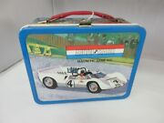 Vintage Advertising 1967 Tin Auto Race Lunchbox Lunch Box 398-t
