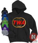 Twa Classic Airline Hoodie Hooded Top Aircraft Retro Plane Spotting Airport Usa