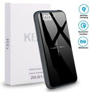 Universal Wireless Charger Power Bank, 10000mah / 10w Backup Battery For Samsung