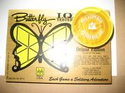 Butterfly Q Tester Vintage Venture Game Litho Wood Puzzle Toy Set Mint