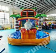 23x10x16 Ft Pvc Vinyl Commercial Inflatable Water Pool Slide With Air Blower Kit
