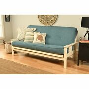 Porch And Den Kern Antique White Wood Futon Frame With